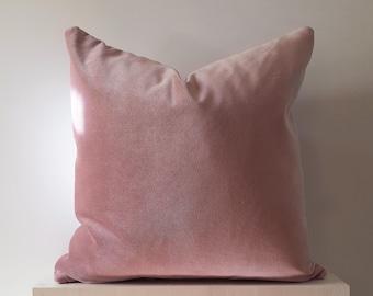 12x24 Pink Velvet Pillow Cover