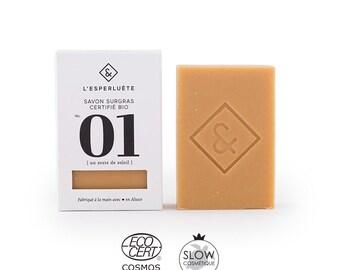 Certified organic glycerine SOAP N 01 - a zest of Sun