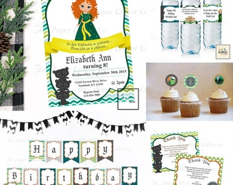 Be Brave Birthday-Printable Party Set-DIY Printable-Instant Download-Editable Files-Banner-Labels-Tags-Toppers-Sign