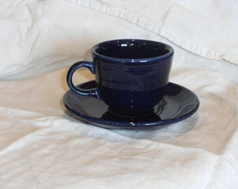 Fiesta Blue Cup and Saucer