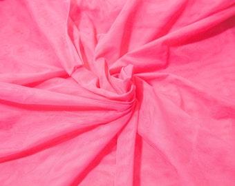 "Fat Quarter Bra Tulle Fuschia Pink Nylon Non Stretch Cup Lining 18"" x30"" RTW Professional Quality Bra Making Bramaking Lingerie"