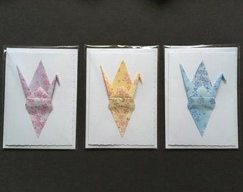 Origami Crane Card – Blossoms