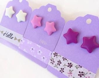 Bibri Colored Starlet Earrings