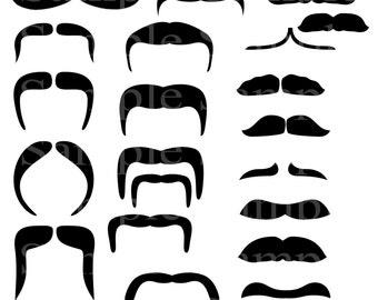 mustache clip art etsy rh etsy com  mustache images clip art free