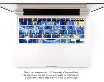 Macbook decal Starry Night van gogh inspired Macbook keyboard stickers macbook pro keyboard sticker macbook air sticker # Van Gogh Dreams 2