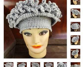 Crochet Pattern Hat, Womens Hat Pattern, Womens Crochet Hat Pattern, Linda 1920s Cloche Hat Pattern with Fringe Hat
