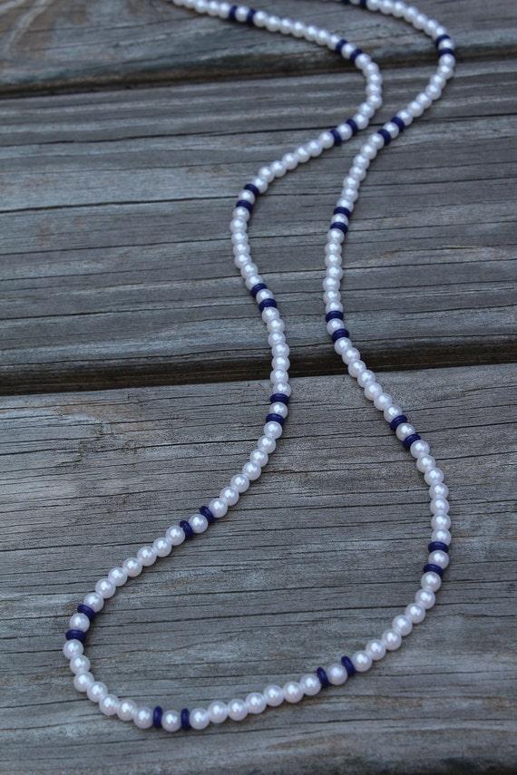 White Eyeglass Chain or Id Badge Holder