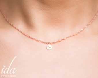 Necklaces For Women, Necklace Initial, Personalized Choker Necklace, Chokers For Women, Rose Gold Necklace, Initial Necklace,Bridesmaid Gift