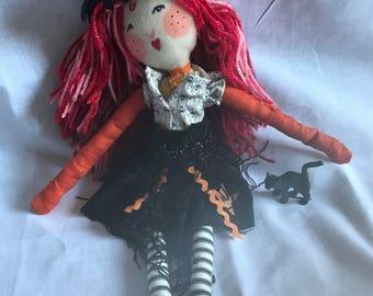 Cloth doll, art doll, keepsake doll, folk art doll, handmade doll, OOAK dolls, birthday doll boudoir doll