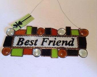 Inspirational Patch Work Pieces- Gold, Purple, Green - Green Art- Best Freind