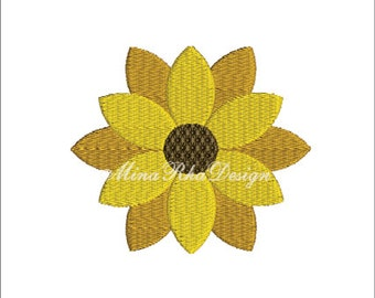 Sunflower Machine Embroidery Design Instant Download