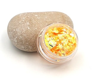 Pearly shimmering fragments glitter creations orange resin - 5 grams