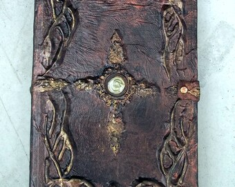 Custom journal ,spell book,handmade book cover,personalized journal,made to order