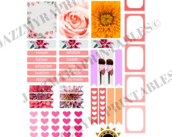 planner sticker various shapes and sizes 8.5x11inch full sheet planner stickers digital download