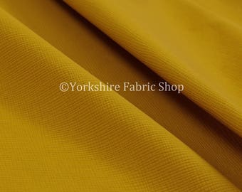 Soft Faux Leather In Plain Textured Matt Finish Yellow Colour Upholstery Fabric  - Sold By The 1 Metre