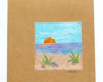 Beach Notecard-blank