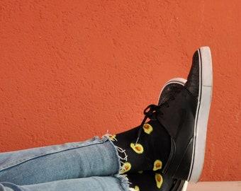 Avocado Patterned Mid High Unisex Socks | Unique Socks | Novelty Socks | Avocado | Funny Socks | Mens Socks | Socks Womens | Avocado Socks