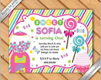 Candyland invite Etsy