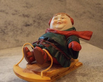Dept. 56 Merry Makers Thaddeus the Tobogganist