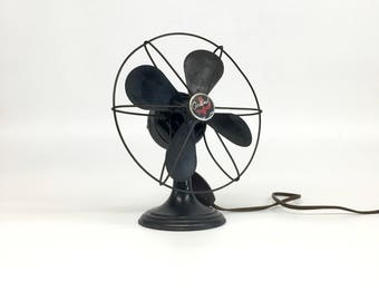 Antique Electric Fan, Westinghouse Cardinal Fan, Vintage Black Fan, Vintage Industrial Fan, Vintage Electric Fan, Adjustable Electric Fan,