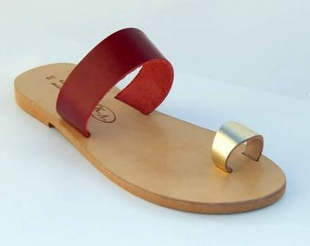 Handmade Greek Genuine UPPER AND SOLE leather