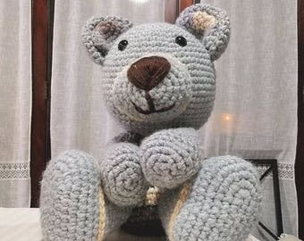 Plush Bear Height 45 cm crochet Hook