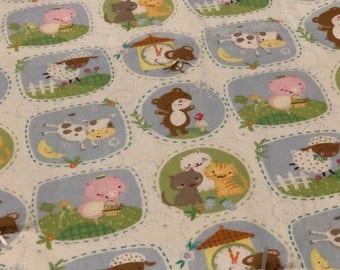 Animal friends baby blanket