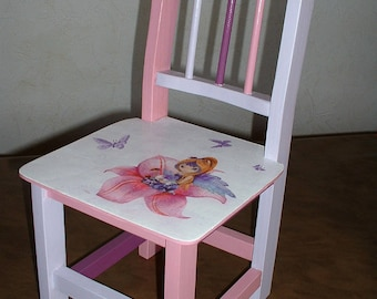 SMALL child's Chair - Elf in the lily-