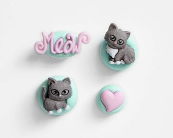 Cat Mom Magnets. Mother's Day Gift for Cat Lovers, Kids, Teens, Best Friend, Sister, Mom. Teacher Back to School, Handmade Baby Shower Gifts