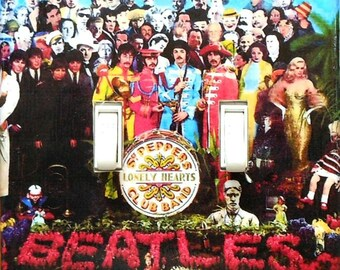 10 Choices Rock and Roll DOUBLE plates- Sergeant Peppers Beatles wall art decorations Hendrix album cover posters Black Sabbath Led Zeppelin