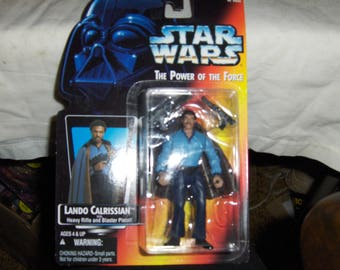 """Lando Calrissian action figure from Star Wars """"The Power Of The Force"""""""