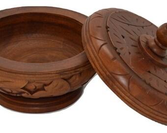 Craved Trinket Bowl With Lid - Bali