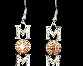 Basketball Mom Rhinestone Earrings