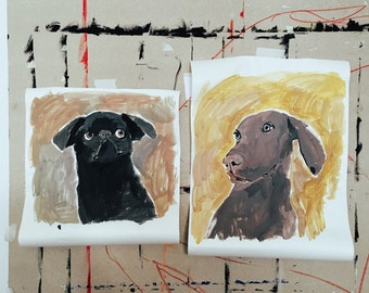 Dog Portrait or Full Body acrylic painting of your dog by Dogscanbark