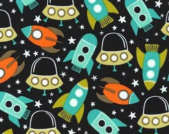 85076-  Michael Miller  Space Station   in retro color - 1/2 yard