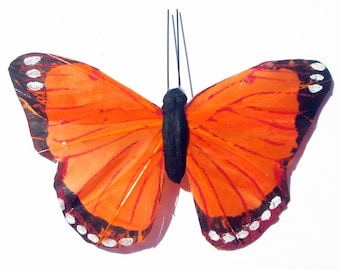 Butterfly Hair Clip SOLD INDIVIDUALLY Orange butterfly Gift For Her Butterfly Accessory handmade hair clip by Ziporgiabella