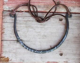 Iron Choker, Forged Iron Necklace, Blacksmith, Iron Jewelry, Medieval Necklace, Medieval Jewelry, Renaissance Necklace, Renaissance Jewelry