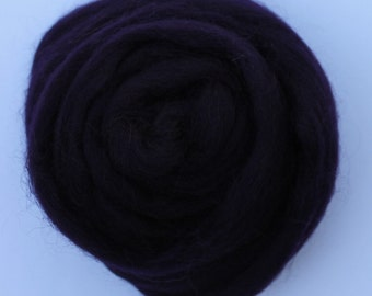 AUBERGINE PURPLE  - Merino Wool Roving 1/4oz, 1/2oz or 1oz