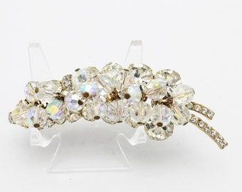 Juliana Crystals and Clear Rhinestone Brooch