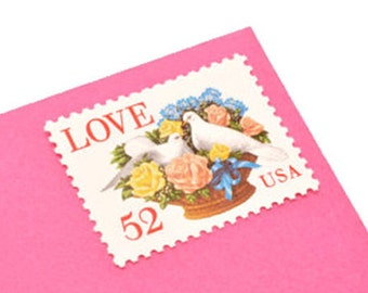 25 Love Dove Stamps - 52c - Vintage 1994 - Unused Postage - Quantity of 25