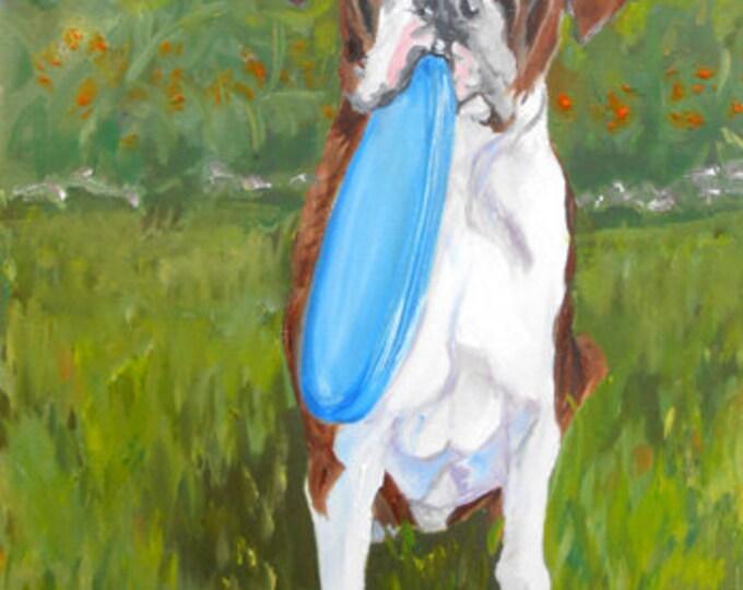 Custom Pet Portrait Painting, Fine Art Oils on Canvas Dog Portrait Gift Certificate
