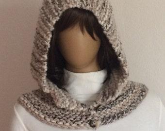 Hood Scarf, Knit Hood, Hooded Cowl, Scoodie, Snood, Hoodie Scarf, Knit Hoodie Hat, Woman Hooded Scarf, Hipster Hoodie Scarf, Cowl Scoodie