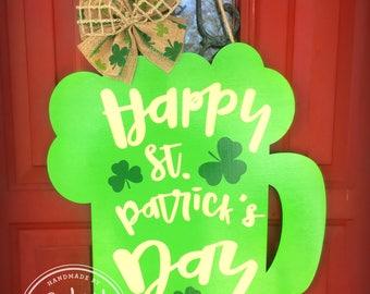 READY TO SHIP St. Patrick's Day Beer Mug Door Hanger