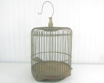 Antique Birdcage, Wood Birdcage, wedding birdcage, vintage birdcage, vintage birdcage, wood cage, garden decor, cottage decor