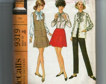 McCall's Misses' Coordinates: Blouse, Sleeveless Jacket, Skirt and Pants Pattern 9319
