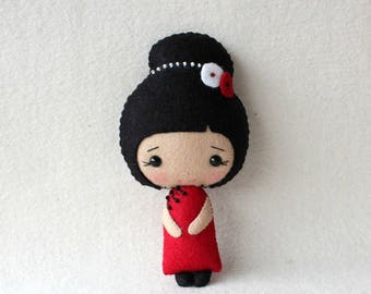 Chinese Girl pdf Pattern - Instant Download