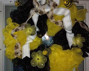 Bumble Bee-utiful Wreath