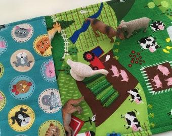 Farm  toy carrier roll play mat