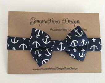 Navy Anchor Bow Tie; Nautical Bow Tie; Boat Bow Tie; Sailor bow tie; Toddler Bow Tie; Boy Bow Tie; Baby Bow Tie; Men's Bow Tie