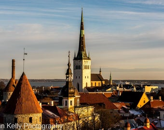 Tallinn Medieval City Photographic Fine Art Print